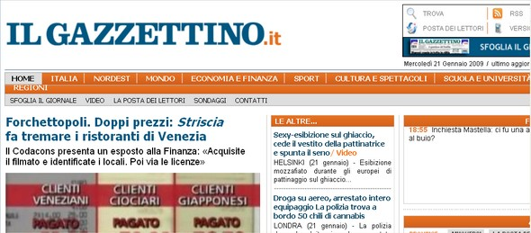 News on line: Il Gazzettino
