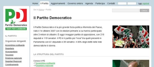 Partiti politici italiani: il Partito Democratico