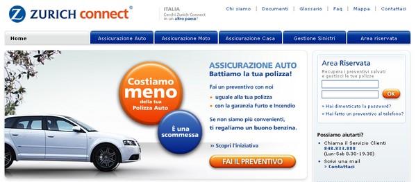 Assicurazioni on line: Zurich Connect
