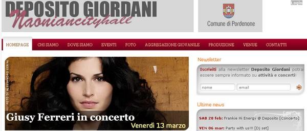 Concerti a Pordenone: Deposito Giordani