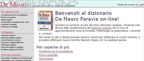 Dizionario online italiano