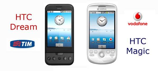 I googlefonini (G-phone) in vendita in Italia con Tim e Vodafone