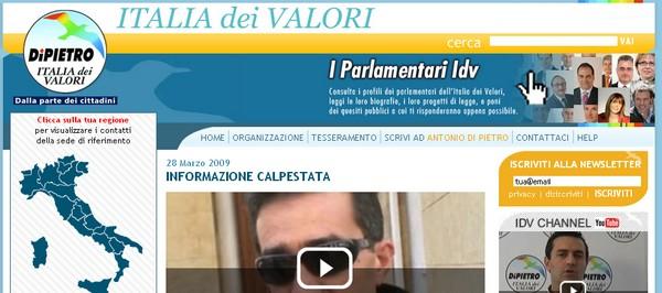 Partiti politici l 39 italia dei valori for Lista politici italiani
