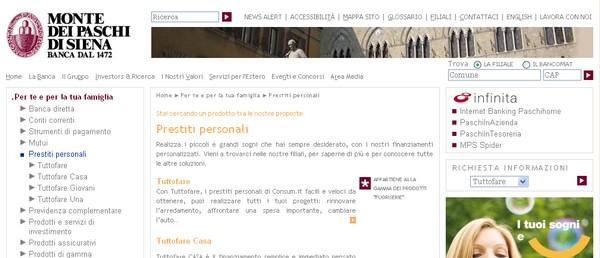 I prestiti della Banca Monte dei Paschi di Siena