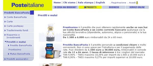 Prestiti e mutui con Poste Italiane