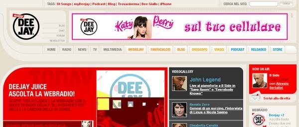 Radio Italiane online: Radio Deejay