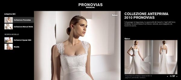 La collezione di abiti da sposa Pronovias 2010