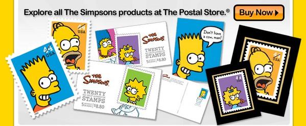 I francobolli dei Simpson