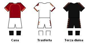 Le maglie della Roma (fonte Wikipedia)