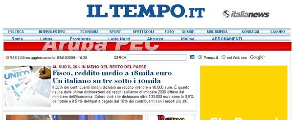 Le ultime notizie anche online con il quotidiano Il Tempo