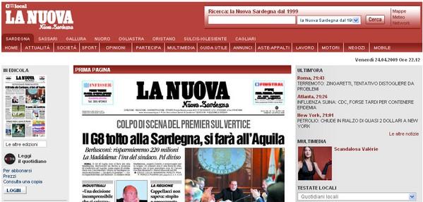 Quotidiano La Nuova Sardegna