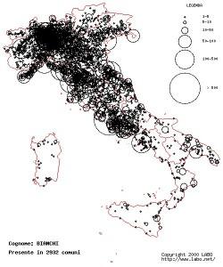 Scoprite la distribuzione dei cognomi in Italia su Labo.net