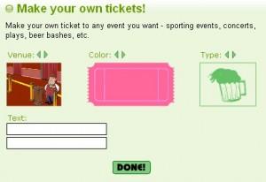 Biglietti personalizzati per partite di calcio, concerti etc