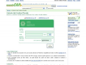 Calcolo online del CF su NonSoloCap.it