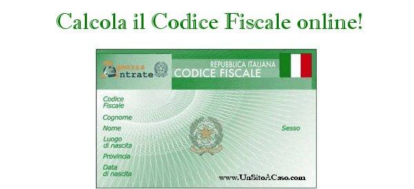 Calcolo online del Codice Fiscale