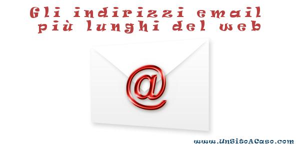 Indirizzi email poco pratici ma molto originali :-)