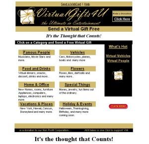 Tanti regali virtuali su VirtualGifts4U.com