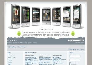 Portale dedicato all'HTC Hero