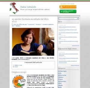La Giornata mondiale del libro su ItaliaCulturale.it