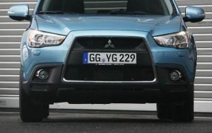 L'aggressivo frontale della Mitsubishi ASX