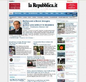 Quotidiani italiani: La Repubblica