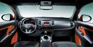 Foto degli interni della nuova Kia Sportage
