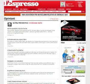 """La rubrica """"Satira preventiva"""" pubblicata sull'Espresso"""