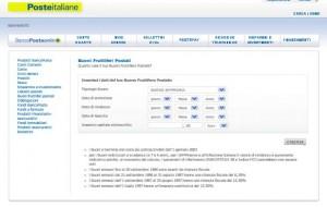 Calcolo del rendimento dei BFP sul sito ufficiale di Poste Italiane