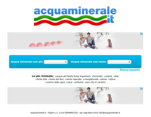 confronto tra le varie acque su AcquaMinerale.it