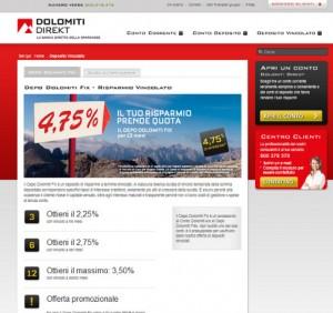 Conto deposito Dolomiti Direkt