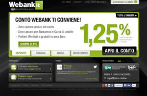 Foto del sito ufficiale Webank