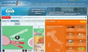 Il sito ufficiale di Autostrade per l'Italia