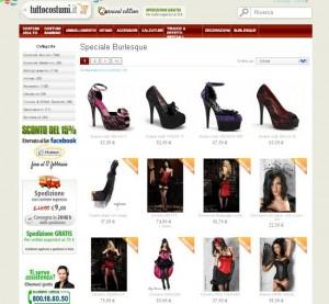 Abbigliamento ed accessori per il burlesque
