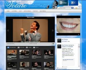 Il sito dedicato alla fiction  su Domenico Modugno