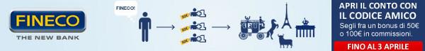 50€ gratis per chi apre un conto corrente FINECO (e accreditando lo stipendio o la pensione entro il 31/05/2013)