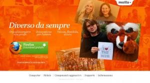 Il sito ufficiale di Firefox