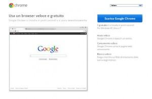 Il sito ufficiale di Google Chrome