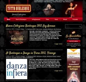 Informazioni sul burlesque su TuttoBurlesque.it