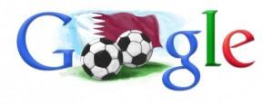 Il logo di Google per i mondiali di calcio Qatar 2022
