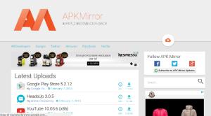 APK Mirror - app sempre aggiornate