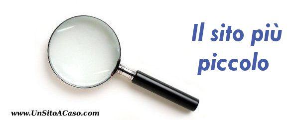 Microscopico.it - il sito più piccolo d'Italia