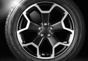 I cerchi in lega della Subaru XV
