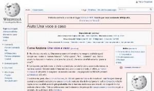 Una pagina a caso di Wikipedia